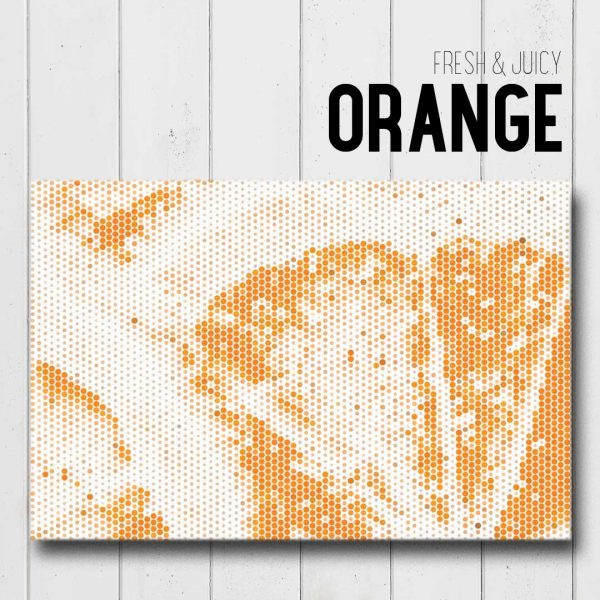 Orange Canvas Wall Art Mockup