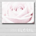 Pink Floral Canvas Wall Art