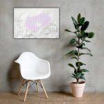 Purple Floral Canvas Wall Art