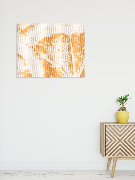 Orange Wall Art Canvas