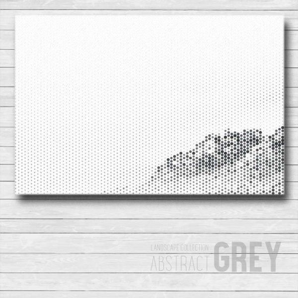 Grey Abstract Canvas Wall Art