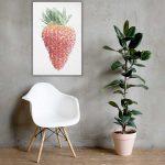 Strawberry Canvas Wall Art