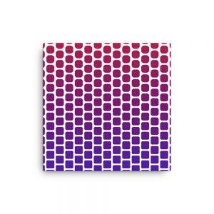 Squares to Circles Geometric Canvas Wall Art