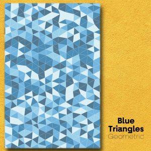 Blue Triangles Geometric Wall Art