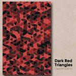 Dark Red Triangles Geometric Wall Art