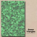 Green Triangles Geometric Wall Art