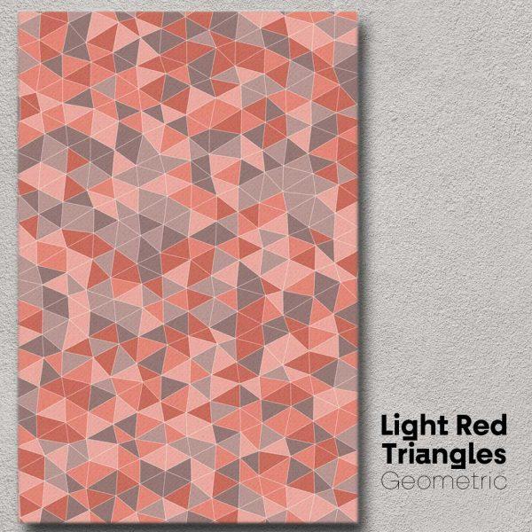 Light Red Triangles Geometric Wall Art