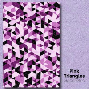Pink Triangles Geometric Wall Art