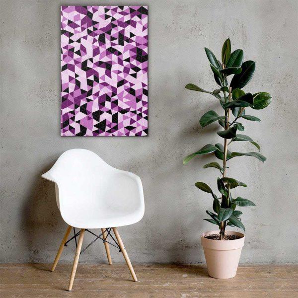 Pink Triangles Geometric Wall Art Mockup