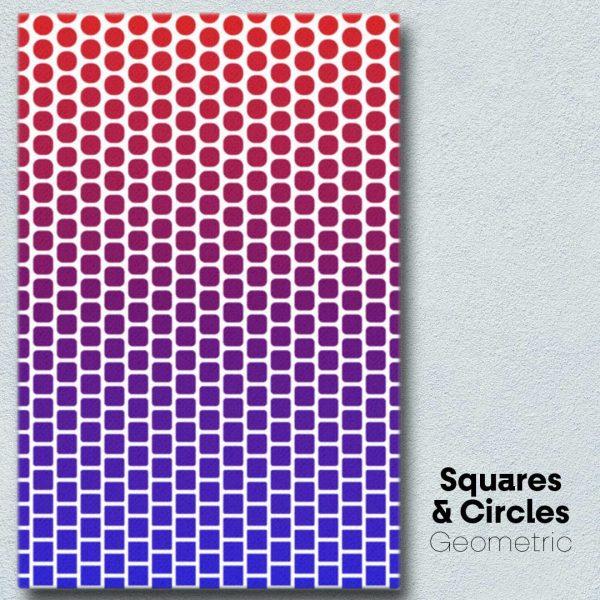 Squares & Circles Geometric Wall Art
