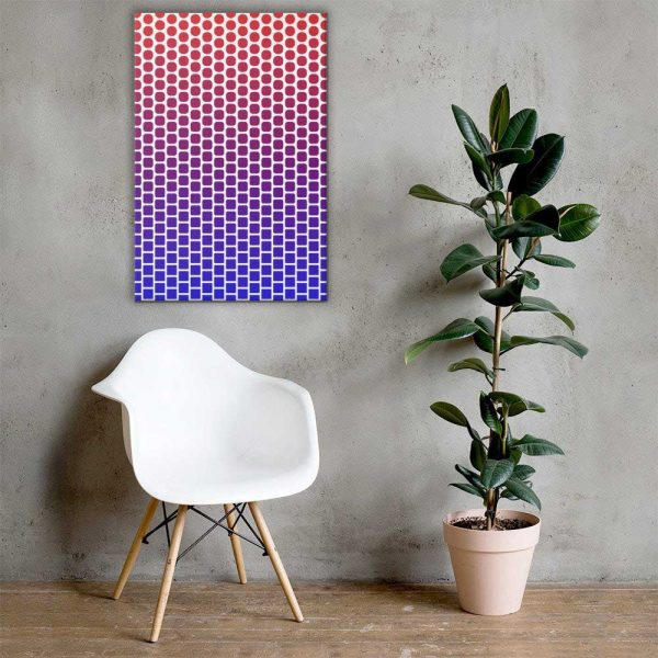 Squares & Circles Geometric Wall Art Mockup