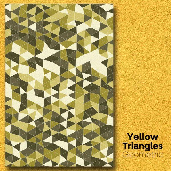 Yellow Triangles Geometric Wall Art