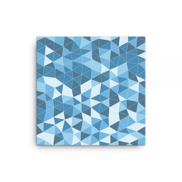 Blue Triangles Geometric Canvas Wall Art