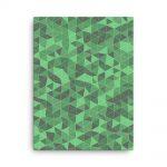 Green Triangles Geometric Canvas Wall Art