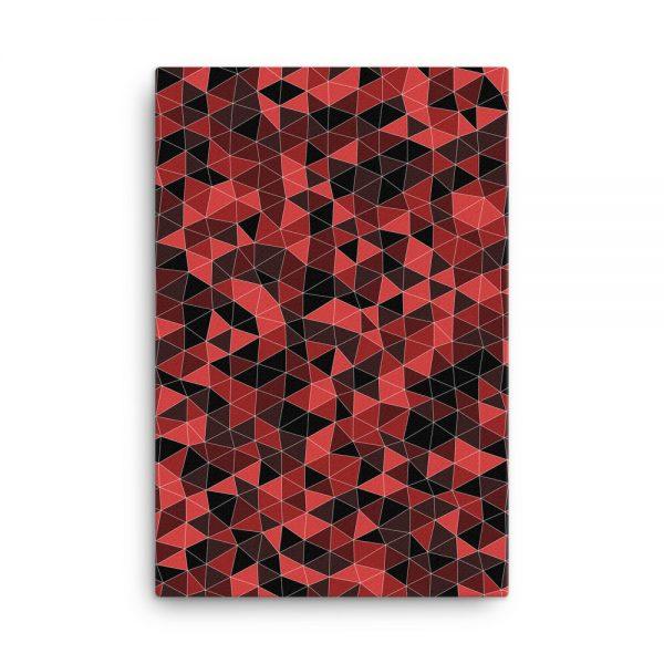 Dark Red Geometric Canvas Wall Art