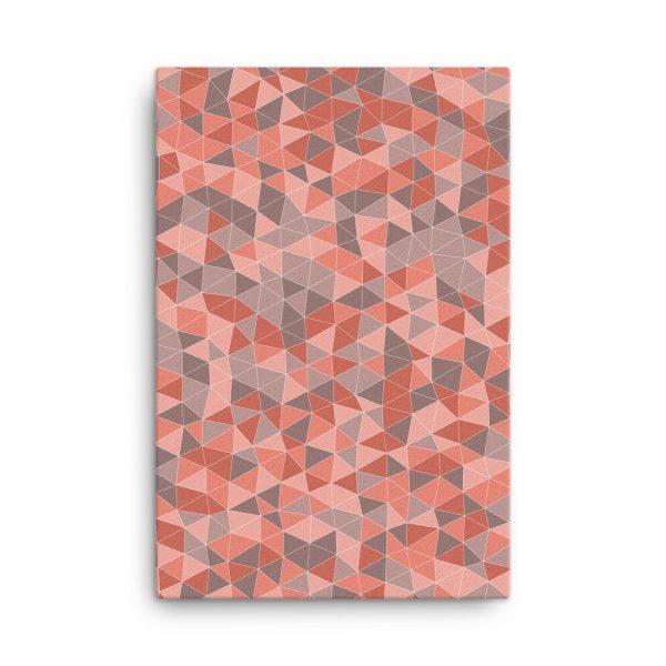 Light Red Geometric Canvas Wall Art