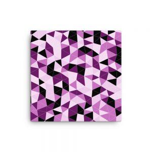Pink Triangles Geometric Canvas Wall Art