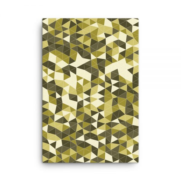 Yellow Triangles Geometric Canvas Wall Art