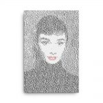 Audrey Hepburn Canvas Wall